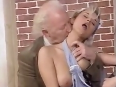 An old and youthful orgy with fucking and cumshots
