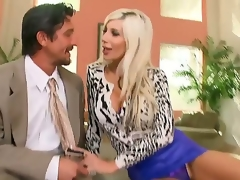 Lewd milf Puma Swede loves feeling giant penis pounding her tight snatch hard