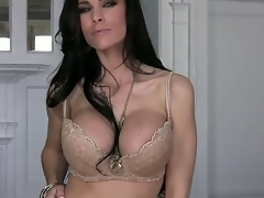 Busty MILF Laura Lee is looking superfine in that hot lingerie and this chick looks even hotter as this chick gets rid of it and starts working on that constricted cum-hole of hers. This chick has real skilled fingers.
