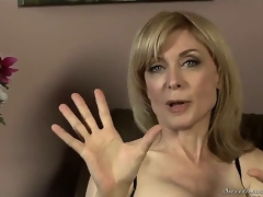 Nina Hartley might be mature, but shes still admirable looking in these hot nylons and lingerie! Young Dia Lewa interviews her about her experiences in the porn industry...