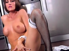 Cody Love works as a maid and prefers to work with her cum-hole whilst nobody is at home. She definitely knows how to reach orgasm using her nasty fingers. See and have a fun