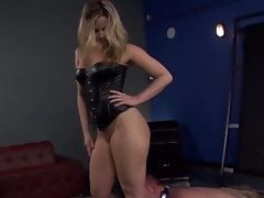 Nice-looking and really hawt slaver golden-haired Alexis Texas with fantastic shaped body and hawt large wazoo makes her slave boy Jeremy Conway crawl and take up with the tongue her heels on the floor