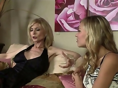 The luxurious milf pornstar Nina Hartley adores juvenile beauties and when this hottie sees this nice-looking college bimbo Nicole Ray this hottie resolves to seduce her in any possible way