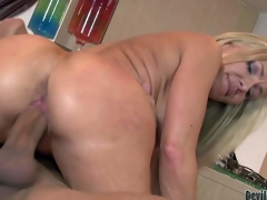 Valuable looking cougar Lisa Demarco us fuck hungry. Lengthy haired hawt blonde milf with wet wazoo sucks studs overweight hard shlong with wild want and then takes it up her pussy. See passionate mama receive hardcored