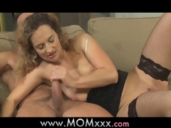 Mom lascivious housewife is in the mood for fucking