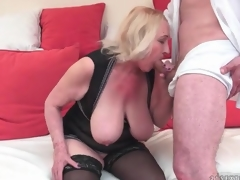 Big tits mature in lingerie can't live without to fuck