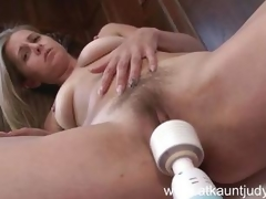 Sweetheart gets wet with a massive sex toy
