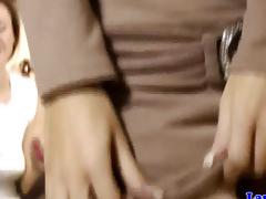Brit in nylons fingering hot darksome brown