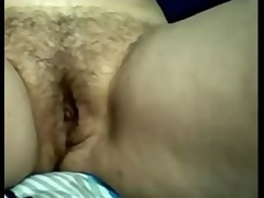 Dilettante Breasty Aged Mom Rubbing Her Hirsute Pussy