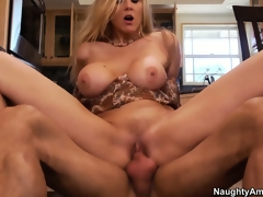 Julia Ann is getting screwed all over her fresh kitchen breaking it in
