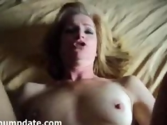 Mature gets rammed increased by face unseeable with jizz