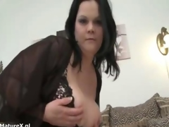 Unsightly adult bbw spitfire shows the brush nuisance off